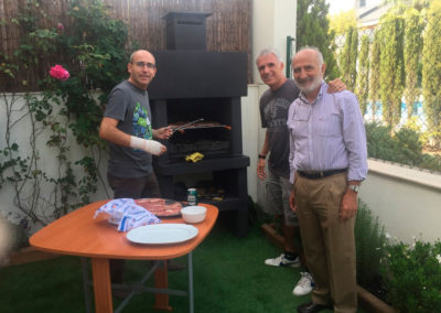 Barbacue in Miguel´s house, September 2017