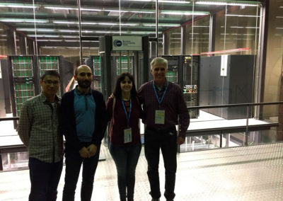 Jia Wei, Xavi, Pati and Miguel at the Barcelona Supercomputing Center, October 2017