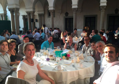 Conference Dinner at the Atheneum - Caltech with Frances, Edgardo, Jeffrey, Pedro and more friends, Caltech, July 2016