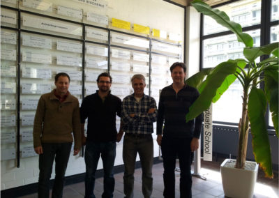 Protein engineers  (from Novozymes, Boku and ICP)  of the 3D-nanobiodevice Project (Bochum, April 2012)