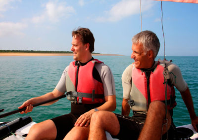 Roland and Miguel sailing. Bioenergy SummerSchool, D`Oleron Sept2014