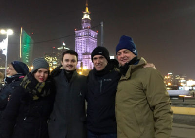 Chiara, Ivan, Miguel and Antonio in Warsaw (Bioenergy meeting). Jan 2017