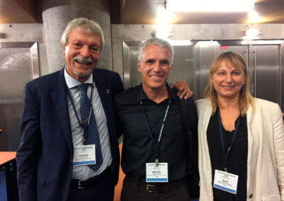 Pierre Monsan, Magali Remaud and Miguel at the XXIV Enzyme Engineering Conference, Toulouse, September 2017