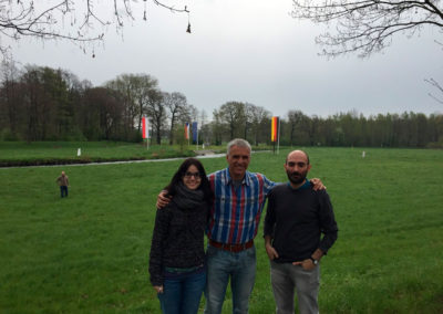 Pati, Xavi and Miguel at the frontiers between Germany, Poland and Czech Republic.   ENZOX2 project meeting 26/04/2017