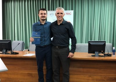 Happy moment with Ivan, after his Thesis defense, Oct 2018