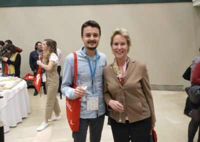 Ivan and Frances Arnold in the Royal Society of Chemistry Conference, San Sebastian, May 2019