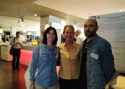 Pati and Xavi with Frances in Biotrans, July 2019, Groningen