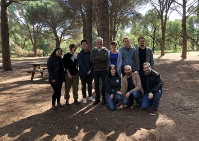 The picnic group. Cantoblanco forest, Oct2019